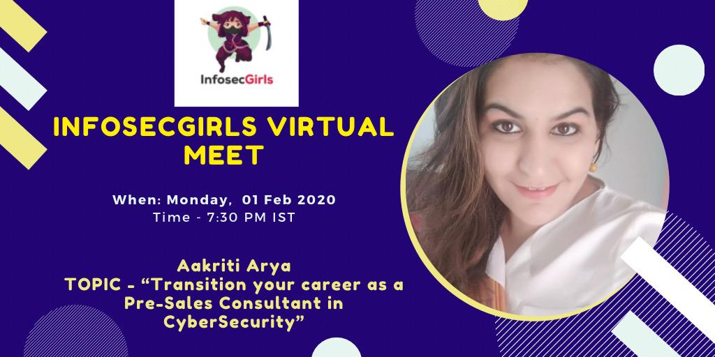 InfosecGirls Virtual Meet - 02nd Feb, 2021